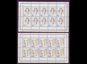Bund 1757-1761 10er Bogen Deutsche Trachten 80 Pf 100 Pf + 200 Pf postfrisch