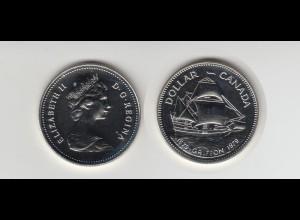 Silbermünze Kanada 1 Dollar 1979 Schiff Griffon stempelglanz