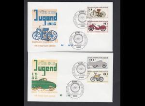 Bund 4 FDC`s mit 1168-1171 Jugend Historische Motorräder mit ESST 12.4.1983