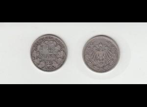 Silbermünze Kaiserreich 1/2 Mark 1905 A Jäger Nr. 16 /55