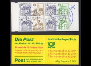 Berlin Markenheftchen 11a Burgen und Schlösser 1980 gestempelt Hannover