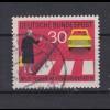 Bund 673 I Plattenfehler Neue Regeln im Starßenverkehr (II) 30 Pf gestempelt /4