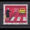 Bund 673 I Plattenfehler Neue Regeln im Starßenverkehr (II) 30 Pf gestempelt /5