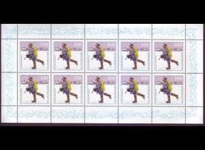 Bund 1764 10er Bogen Tag der Marke Postzusteller im Spreewald 100 Pf postfrisch
