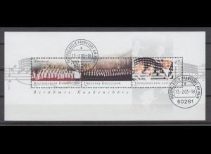 Bund Block 61 Berühmte Knabenchöre 45 C, 55 C, 100 C Ersttagsstempel Frankfurt