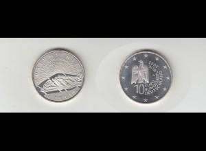Silbermünze 10 Euro 2002 Museumsinsel stempelglanz
