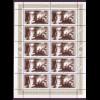 Bund 1766 10er Bogen Friedrich Wilhelm v. Steuben 100 Pf postfrisch