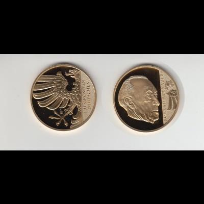 Medaille Die größten Deutschen Konrad Adenauer mit Zertifikat PP 2014 /M24