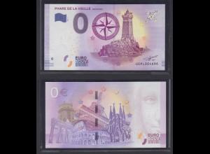0 Euro Souvenir Schein UE PL 2017-1 FR Phare de la Vieille Eifelturm