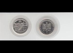 Silbermünze 10 Euro 2002 100 Jahre U-Bahn stempelglanz