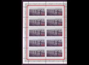 Bund 1768 10er Bogen Kriegsgräberfürsorge 100 Pf postfrisch