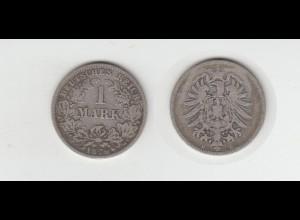 Silbermünze Kaiserreich 1 Mark 1876 C Jäger Nr. 9 /143