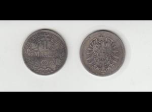Silbermünze Kaiserreich 1 Mark 1874 D Jäger Nr. 9 /1
