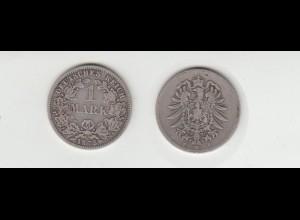 Silbermünze Kaiserreich 1 Mark 1875 F Jäger Nr. 9 /138