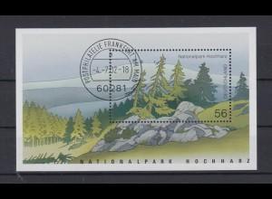 Bund Block 59 Nationalpark Hochharz 56 Cent Ersttagsstempel Frankfurt