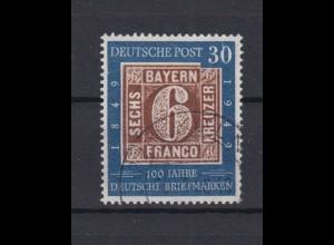 Bund 115 I mit Plattenfehler 100 Jahre deutsche Briefmarken 30 Pf gestempelt