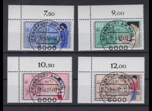 Bund 1315-1318 Eckrand links oben Jugend Handwerksberufe kompl. Satz ESST