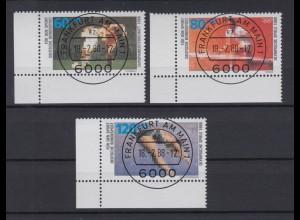 Bund 1353-1355 Eckrand links unten Sporthilfe kompl. Satz ESST Frankfurt