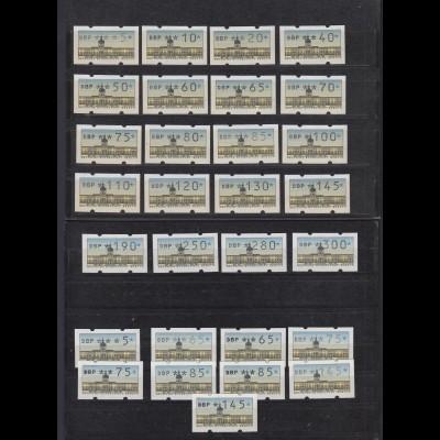 Berlin ATM Zusammenstellung von 29 Werten postfrisch