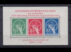Berlin Block 1 Für Berliner Währungsgeschädigte postfrisch geprüft Schlegel