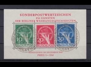 Berlin Block 1 Für Berliner Währungsgeschädigte ESST Berlin geprüft Schlegel