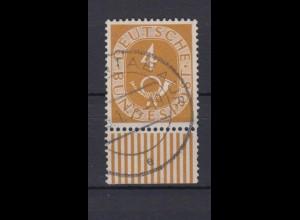 Bund 124 Posthorn mit Unterrand 4 Pf gestempelt