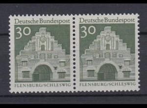 Bund 492 waagerechtes Paar Deutsche Bauwerke (II) 30 Pf postfrisch