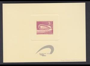 Vignette Sonderdruck Berlin Bl. 6b auf Manilakarton mit eingeprägtem Markenbild