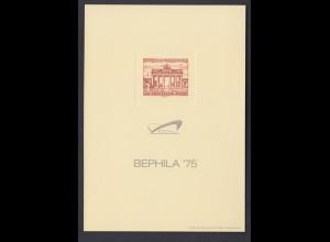 Vignette Sonderdruck Berlin Bl. 7b auf Manilakarton mit eingeprägtem Markenbild