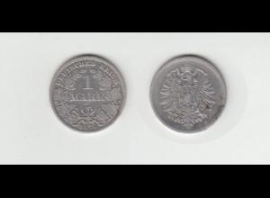 Silbermünze Kaiserreich 1 Mark 1874 E Jäger Nr. 9 /101