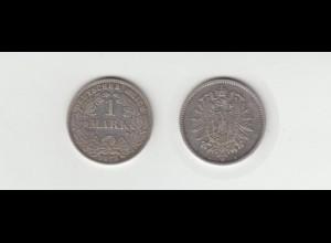 Silbermünze Kaiserreich 1 Mark 1875 D Jäger Nr. 9 /134