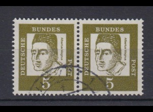 Bund 347y waagerechtes Paar Bedeutende Deutsche 5 Pf gestempelt /4