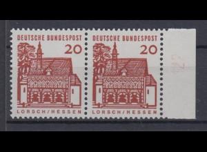 Bund 456 Paar mit Seitenrand DZ 12 als Doppeldruck Deutsche Bauwerke 20 Pf **