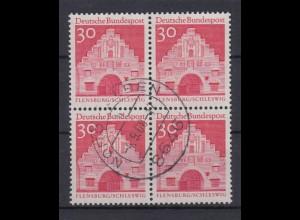 Bund 493 4er Block Deutsche Bauwerke (II) 30 Pf gestempelt