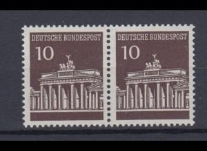 Bund 506 waagerechtes Paar Brandenburger Tor 10 Pf postfrisch