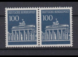 Bund 510 waagerechtes Paar Brandenburger Tor 100 Pf postfrisch