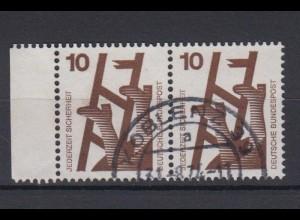 Bund 695 a waagerechtes Paar Unfallverhütung 10 Pf gestempelt /1 Koblenz