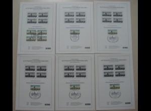 Berlin ATM Schwarzdruck 6 Stück mit 5, 20, 65, 75, 85,+ 145 Pf