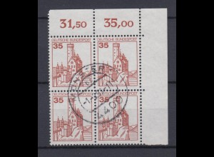 Bund 1139 Eckrand rechts oben Burgen+Schlösser 35 Pf gestempelt Münster