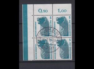 Bund 1448 4er Block Eckrand links oben SWK 5 Pf gestempelt Heuchelheim