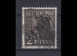 Berlin 1 Schwarzaufdruck 2 Pf gestempelt /2