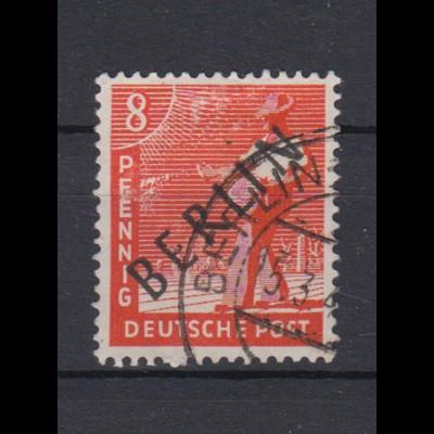 Berlin 3 Schwarzaufdruck 8 Pf gestempelt /3
