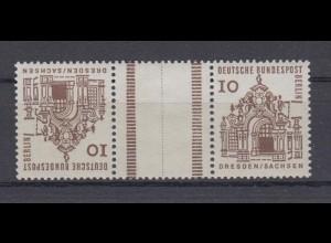 Berlin 242b Zusammendrucke KZ 2a Bauwerke 10 Pf postfrisch Kehrdruck