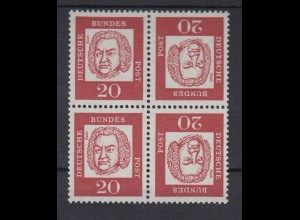 Bund 352y Zusammendruck 2x KZ 4 4er Block Bedeutende Deutsche 20 Pf postfrisch
