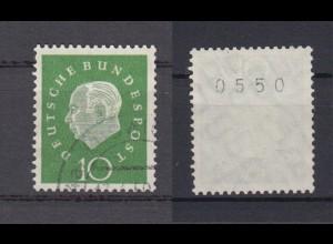 Bund 303 RM mit gerader Nummer Bundespräsident Heuss (III) 10 Pf gestempelt