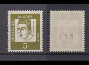 Bund 347y RM ungerade Nummer Bedeutende Deutsche 5 Pf postfrisch