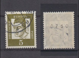 Bund 347y RM gerade Nummer Bedeutende Deutsche 5 Pf gestempelt