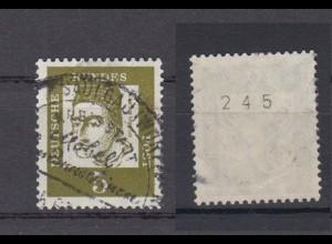 Bund 347y RM ungerade Nummer Bedeutende Deutsche 5 Pf gestempelt