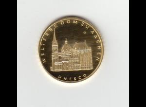 Goldmünze 100 Euro 2012 UNESCO Weltkulturerbe Dom zu Aachen