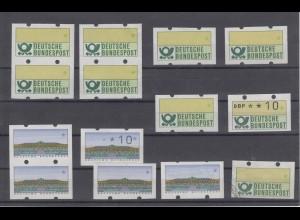 Bund ATM 1 + 2 Besonderheiten Fehldrucke mit und ohne Nrummer postfrisch